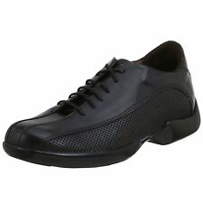 Mens Aetrex G680 G681 Perforated Oxford Black Brown Shoe for Diabetic Comfort