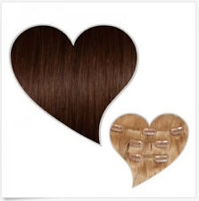 Hot 7 Pcs/one Set Clips in Remy Human Hair Extensions Weft Full Head US STOCK