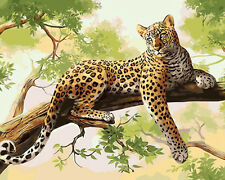 Leopard On Tree Branch Needlepoint Canvas 604