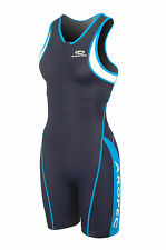 Ladies Panther BlueTriathlon One Piece Lycra Suit. Swimming, Running, Cycling