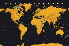Gold World Map Poster 61x91.5cm