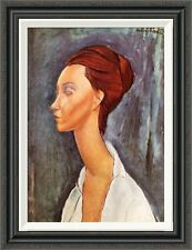 Global Gallery 'Lunia Czechowska 0' by Amedeo Modigliani Framed Painting Print