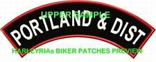 CUSTOM/MADE TO ORDER (BLOCK FONT) UPPER ROCKER ONLY   .... BIKER PATCH