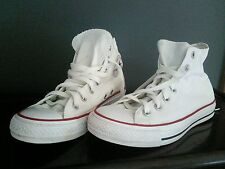 Womens Size UK 5 white canvas Converse All Star lace up hi top trainer boots