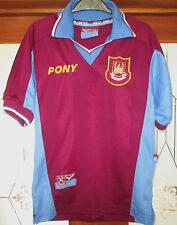 Vintage 1997-98 West Ham United Pony Home Shirt Size 26/28 approx 7-8 Years VGC