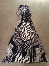 STUNNING SEXY ANIMAL PRINT FLOATY SUMMER OCCASION MAXI DRESS PLUS SIZE 14-18