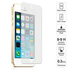 2x Scratch Resist Tempered Glass Screen Protector For Apple iPhone 5S 5C 5 4S 4