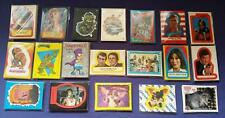 Vintage Movies/TV Trading Cards Sticker Sets (Topps) Choose from a Selection