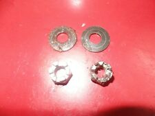 1988 POLARIS TRAIL BOSS 250 STOCK OEM 2X4 FRONT WHEEL HUB SPINDLE CASTLE NUTS 2