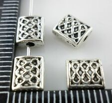 15/60/500pcs Tibetan silver Rectangle Spacer Beads 6x7mm  (Lead-free)