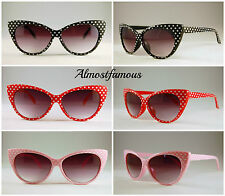 Cateye Polka Dot sunglasses Cat Eye 50s 60s Style Fashion Retro Alternative