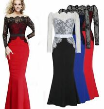 Sexy Women's Long Lace Formal Evening Cocktail Party Dress Bridesmaid Maxi Dress