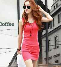 Dress Sexy Deep V Collar Vest Skirt Sleeveless Package Hip Cotton Stretch Mini