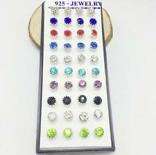 40PCS Ear Earrings Stud Rhinestone Crystal Sunflower Jewelry zircon Women