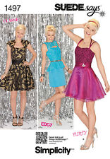 Simplicity 1497 Sew Pattern Misses Edgy Flirty Prom Dance Special Occasion Dress
