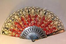 Spanish Style Dance Party Wedding Lace Water Color Flowers Folding Hand Held Fan