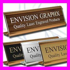 2x8 PERSONALIZED CUSTOM ENGRAVED WALL / DOOR / DESK NAME PLATE W/ HOLDER