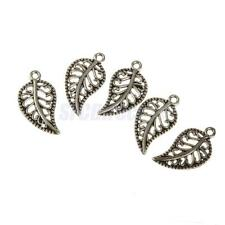 100pcs Alloy Tree Leafs Charms Pendants Jewelry Findings DIY Crafts