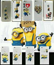 MINIONS Transparent CLEAR TPU SOFT CASE FOR APPLE IPHONE  5/5S . 5SE & 5C