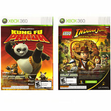 Lego Indiana Jones and Kung Fu Panda Dual Pack  (Xbox 360, 2008) Complete