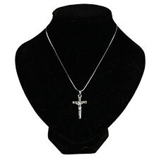 1 Pc Silver Jesus Pendant Chain Cross Crucifix Jewelry NEW Christ Necklace