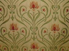 Art Nouveau Tiffany Soft Gold Thick Designer Jacquard Curtain Upholstery Fabric