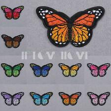 Butterfly Embroidered Patch Iron Sew On Cloth DIY Craft Motif Applique Accessory