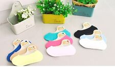 10 Pairs Womens Kids Cool Socks Free-Size Fashion Loafer Liner Hidden Invisible