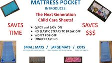 NEW STYLE DAYCARE SHEETS for COTS & MATS REVOLUTIONARY!& for pillow