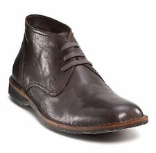 John Varvatos Star USA Men's Hipster Chukka Dark Brown Leather $198 msrp NIB