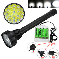 Rechargeable 28000LM 21x XM-L T6 LED Flashlight 5 Mode Torch Camping Lamp Light