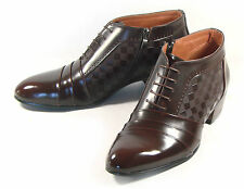 MOODA Mens Ankle Boots Leather Shoes Oxfords Dress Formal Lace up Black Brown