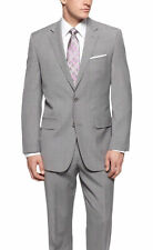 Michael Kors Regular Fit Light Gray Pinstriped Two Button Wool Suit