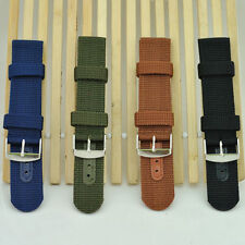 Outdoor Sports Thick Military Army Nylon Canvas Wrist Watch Band Strap Cool SE