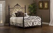 Panel Bed Set with Rails in Antique Brown Finish [ID 3409766]