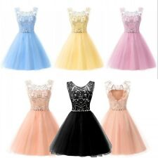 Stock Blush Tulle Homecoming Ball Prom Gown Short Formal Cocktail Dresses 2 4 12