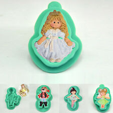 Vivid 3D Baby Dancing Girl Silicone Mould Fondant Cake Decorating Topper Mould