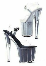 8 Inch Pointed Stiletto Sandal Women'S Size Shoe With Glitter In Platform