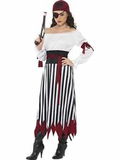 Ladies Pirate Caribbean Fancy Dress Costume Wench Women's Adult Outfit