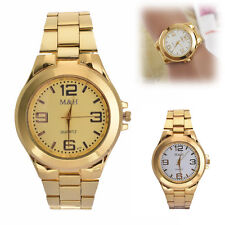 Fashion Women's Men Bracelet Watch Stainless Steel Analog Quartz Wrist Watch