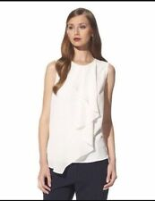 NWT! 3.1 Phillip Lim for Target Ruffle Tank Blouse TOP -White Ivory Size XS S M