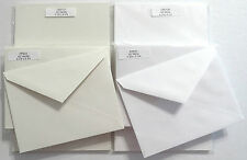 25 Pre-Scored A2 Cards and 25 Matching Envelopes Vanilla or White Invitation