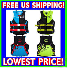 JET PILOT SHAUN MURRAY Neoprene 2016 USCG Approved Life Jacket Vest RED BLUE YEL