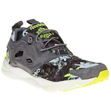 New Mens Reebok Grey Furylite Nylon Trainers Running Style Lace Up