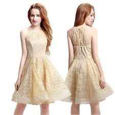 Halter Lace Homecoming Ball Prom Dress Short Formal Evening Party Gown 10 12 14