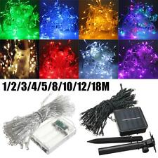 1-18M LED Battery/Solar Fairy String Light Outdoor Wedding Christmas Party Lamp