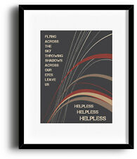 Neil Young Poster HELPLESS Song Lyric Artwork Print 90s Classic Rock Music Quote