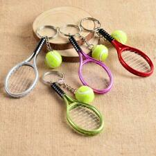 New Tennis Racket Ball Lovely Little Alloy Pendant Key Chain Hanging Ornament