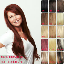 """Tengda 24"""" 7pcs 120g 11 Colors Hair Extensions Clip in 100% Remy Human Hair"""