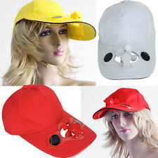 Solar Power Automatic Fan Baseball Hat Cooling Cap Sports Game Unisex